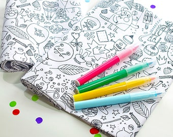 Kids Colour-In Fabric Rolls