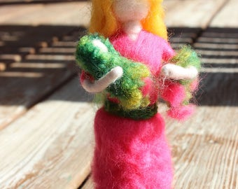 Needle Felted Mother and Babe