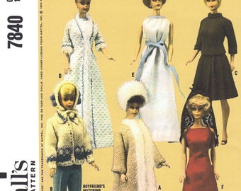 McCall's Sewing Guide.  Sewing  / Barbie Doll Clothes - PDF Immediate Download Patterns