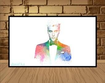 Justin Bieber poster,Justin Bieber print,Justin Bieber art,wall print,wall poster,music poster,music print,Celebrity Poster,Beliebers,art