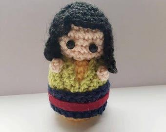 Mulan amigurumi, crocheted, princess, disney princess