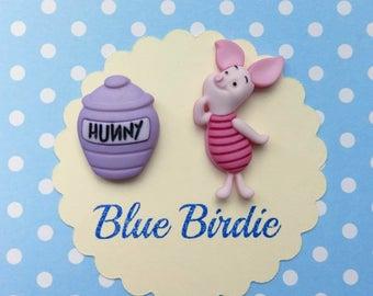 Piglet brooch set piglet jewelry Disney Winnie the Pooh badge Disney badge Disney jewellery Disney jewelry piglet gifts