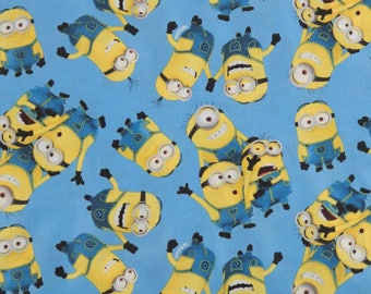Cotton fabric, fabric by the yard, sewing fabric, quilting fabric, minions fabric, nursery fabric, summer fabric, apparel fabric