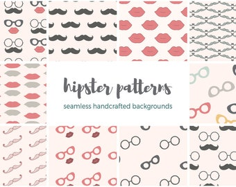 Hipster Patterns Digital Papers