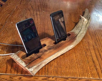 Wood Docking Station (Double) for Smartphones