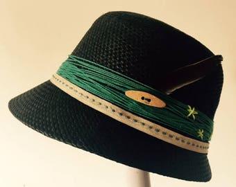 Fall Black Cloche Hat