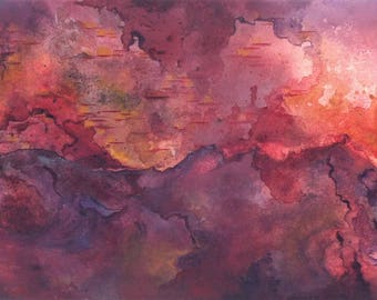 Abstract painting inspired by synesthesia- 'Do not let me be misunderstood', Santa Esmeralda.