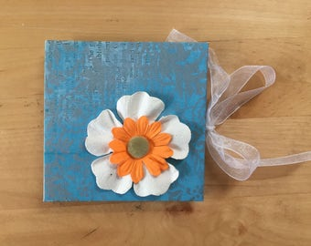 Floral Mini journal--drum leaf binding