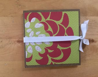 Floral Origami fold book for scrapbooking and more