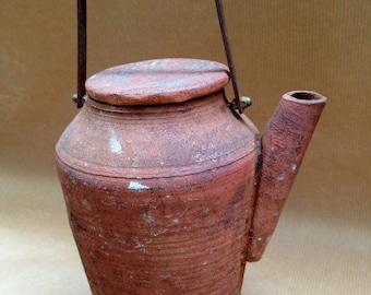 Unique terracotta teapot