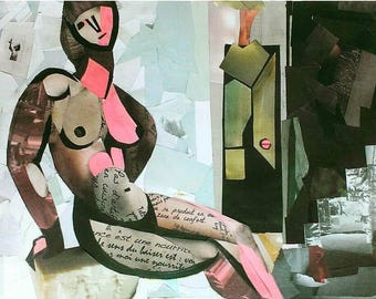 Collage, womanart, woman, girl, gift, painting for sale, wall art, home decor, interior art