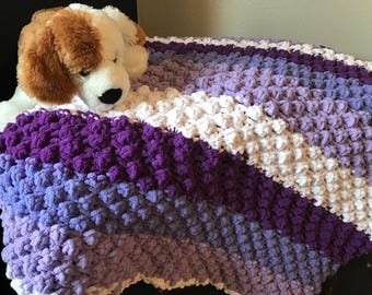 Multi-colored baby blanket