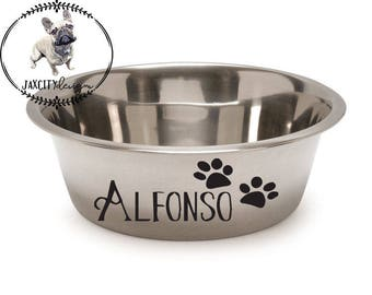 Personalized Dog/Cat Bowls, Dog Bowl, Cat Bowl, Pet Bowl, Dog Gift, Cat Gift, Pet Gift, Dog Accessories, Cat Accessories, Dog, Cat, Pet