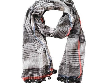 Checks Organic Cotton Scarf