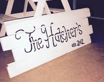Medium Hand Painted Sign