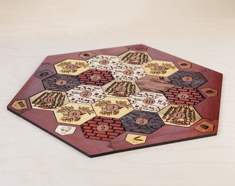 Settlers of Catan™ Board (Unofficial) | Hardwood Edition