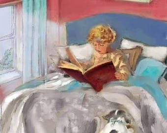"A4 Print of Original Art ""A BEDTIME STORY"""