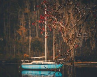 Fall Sailboat Canvas ! Beautiful! (Many Sizes Available)