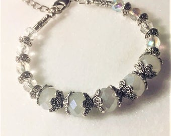 Opal and Silver Bracelet