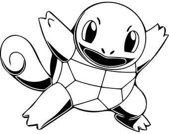 Pokemon Squirtle Concrete Print