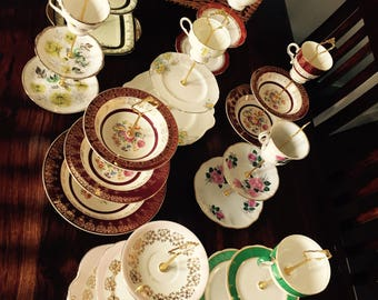 10 x Vintage Cake Stands for Wedding Centre Pieces/Afternoon Tea