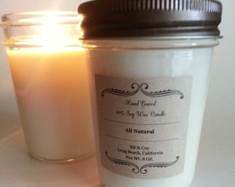 Choose your own scent! | Handmade Soy Candle|Wood Wick Candle|Cotton Wick|Soy Candle|Jar Candles|Natural Soy Candles|Scented Candles|BB&Coe
