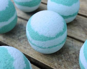 Coconut Swirl Crystal Bath Bomb
