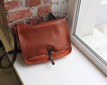 Leather Messenger Bag Leather Briefcase Leather Laptop Leather Satchel for Macbook Pro 079