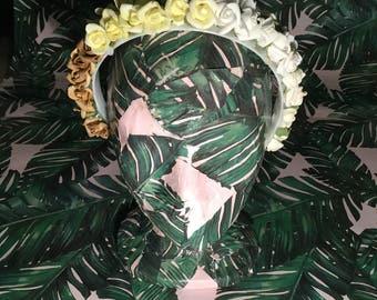 Yellow Rose Headband