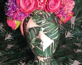 Pom Pom & Rose Festival Headpiece