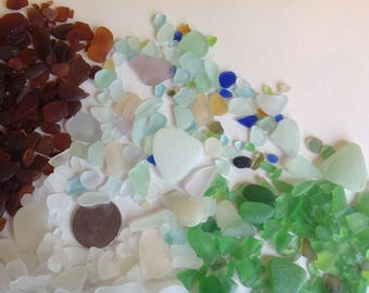 Lake Erie Beach / Sea Glass - 1 lb. Assorted Colors, Shapes & Sizes