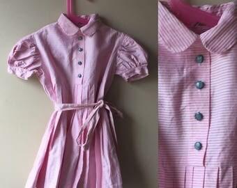 1950s girls dress deadstock