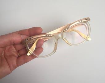 1950s cats eye glasses
