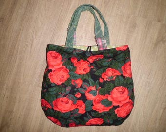 Bag, handbag, shoulder bag, shopper, tote bag, roses,