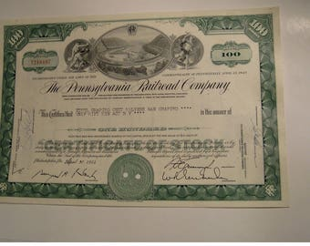 USA Old Stock Certificates: Railroad
