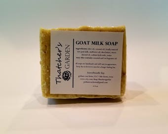 Goat Milk Soap - Unscented with Exfoliating Oatmeal