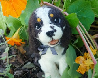 OOAK needle felted soft sculpture simple SPANIEL