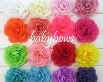 2 Rose Flower Baby Girl Hair Clips 1 Pair