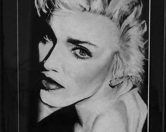 Madonna 90's - pastel portrait