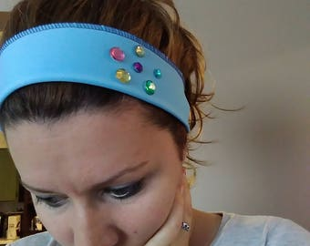 Blue Adjustable and Stretchy Headbands!