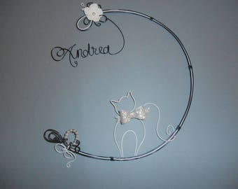 aluminum wire wall hanging - andrea