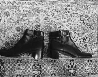 Black skinny ankle boots