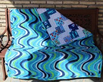 Blue Baby Quilt Handmade