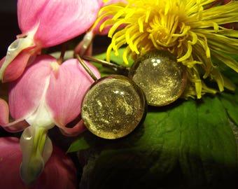 Metallic gold earrings