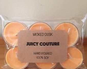 Soy Tea lights/6pk/Juicy Couture