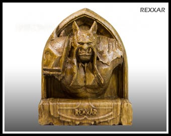 Wooden, Rexxar, hearthstone, warcraft, wow, world of warcraft, wow hero, wow statue, wow figurine, hunter, rexar, orc, horde
