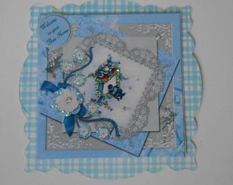 Pack 2 Welcome to your New Home Birdcage Embellishment Toppers for cards and crafts