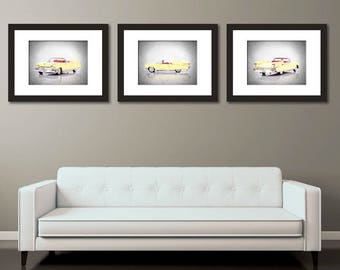 Set of 3 - 1959 Cadillac El Dorado wall prints, vintage car decor, car room decor, Cadillac El Dorado, car poster, man cave decor, car print