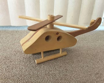Vintage Wood Toy Helicopter