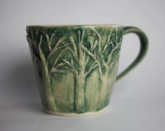 Handmade Pottery Trees Mug